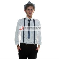 Комплект с галстуком серый
