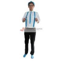 Комплект с галстуком голубой