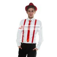 Комплект с галстуком красный