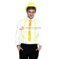 Комплект с галстуком жёлтый