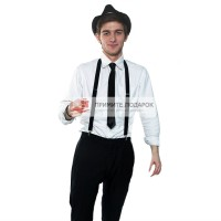 Комплект с галстуком чёрный