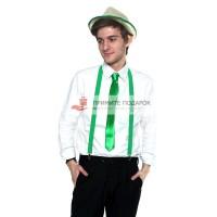 Комплект с галстуком зелёный