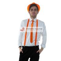 Комплект с галстуком оранжевый