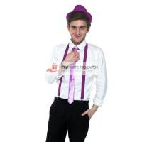 Комплект с галстуком сиреневый