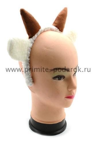 Рога и уши козленка на ободке Рога и уши козленка на ободке - символ 2015 года!