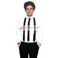 Комплект с галстуком коричневый