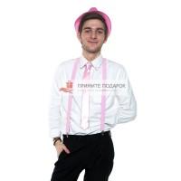 Комплект с галстуком розовый