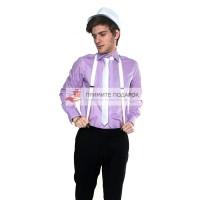 Комплект с галстуком белый