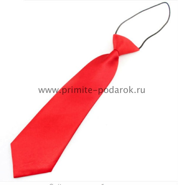 Как сделать красный галстук