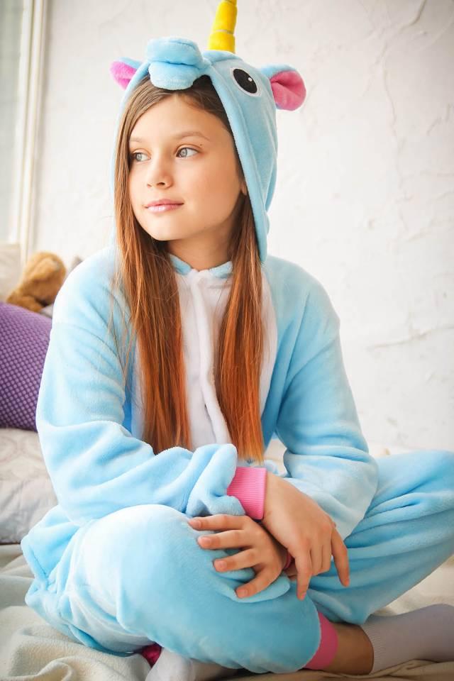 Купить Пижама кигуруми голубой единорог детский (90-105 см) по цене ... ed9d37a884e52