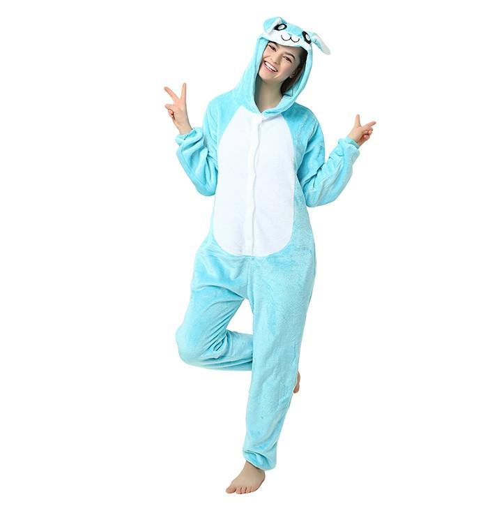 0d8b1613fc77 Пижама кигуруми заяц бело-голубой М (160-170 см) купить за 1 250 руб.