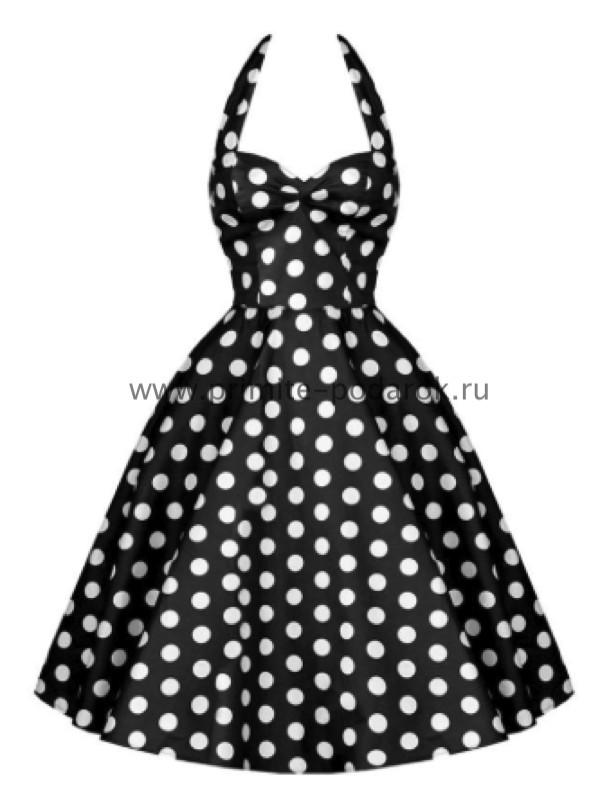 df9f6ebbd86 Платье чёрное в белый горох купить за 3 000 руб.