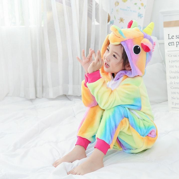 75cb3796aa11 Пижама кигуруми Единорог радужный детский купить за 1 250 руб.